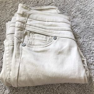 High waisted skinny khaki pants